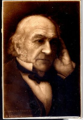 Antique Ceramic Tile Of William Gladstone 1898 H. S. MENDELSSOHN
