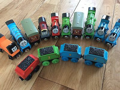 NEW  14 piece sets of wooden thomas and friends trains