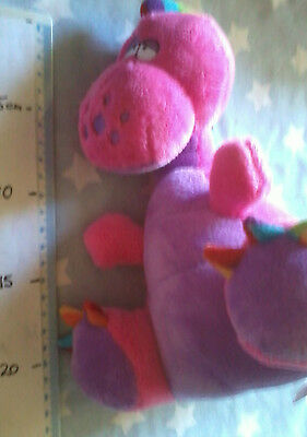 Tommee Tippee soft plush rattle Pink DINOSAUR approx 25cm tall baby toy