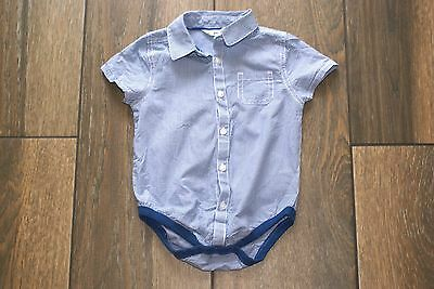 NEXT boys blue checked shirt bodysuit, 12-18 months, OTHER ITEMS FOR SALE
