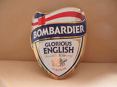 Bombardier Glorious English Ale Beer bar Pump Clip collectable