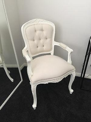 French Style Vintage Chair, WHITE