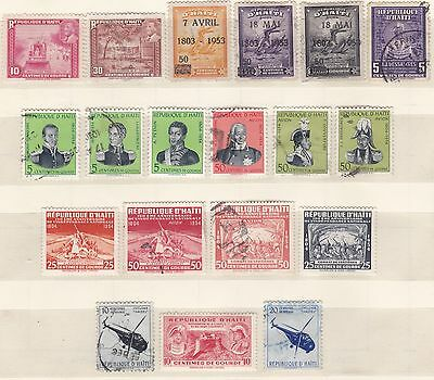 Haiti,  Lot of Old stamps around 1951-55