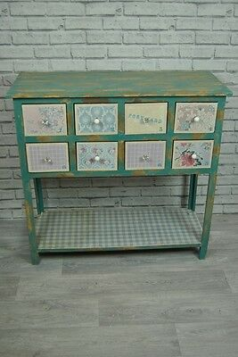 Shabby Chic style Patchwork Distressed Console Hall Table