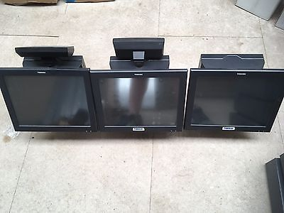 3x Toshiba Till System POS With Assorted Peripherals