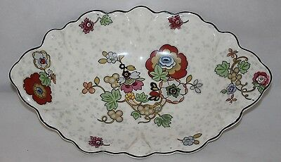 "Crown Ducal - Beaumont Chintz - 13 1/2"" Oval Serving Dish/Bowl"