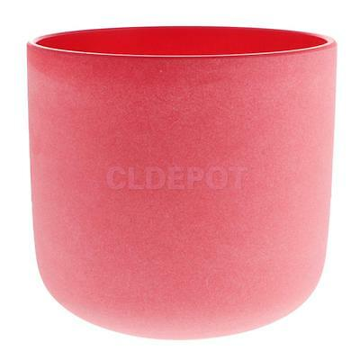 Root Chakra Crystal Singing Bowls C note Set High Quality Sound 7 Inch Red