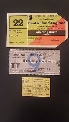 1956 Germany v England in Berlin - excellent condition ticket