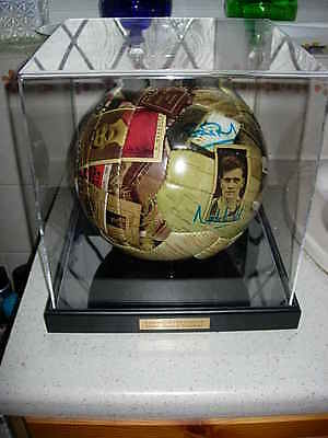 old trafford limited edition centenary ball, signed by 10 man utd legends c.o.a