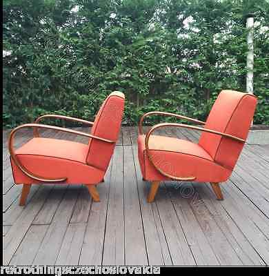Halabala´s armchairs, art deco style, first half 20th century, restored.