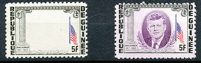 2304 GUINEA 1964 John F. Kennedy 5 Fr. superb U/M MAJOR VARIETY: MISSING VIOLET