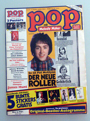 Pop Melody Maker #1 January 1977 Abba Peter Frampton