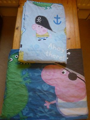 Peppa pig Pirate George Pig Single Duvet Cover and Pillow Case reversable