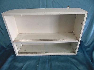 vintage WOODEN medicine APOTHECARY wallmounted cabinet chest cupboard