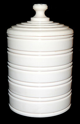 Jeannette Shell Pink Milk Glass Cookie Jar - HARD TO FIND