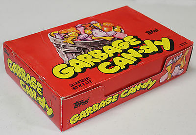 FULL BOX: rare GARBAGE CAN-DY sealed 1988 vintage TOPPS candy w/ 24 containers