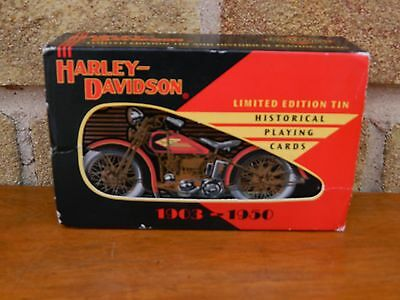 Harley Davidson Limited Edition Tin Historical Playing Cards