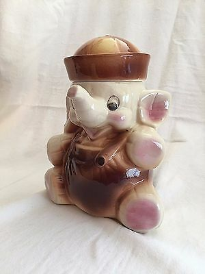 "ELEPHANT SAILOR COOKIE JAR AMERICAN BISQUE USA 11"" Tall & 5 lbs. Vintage"