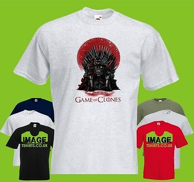 Game Of Clones Mens PRINTED T-SHIRT Mashup Funny Thrones Vader Dark Side Empire