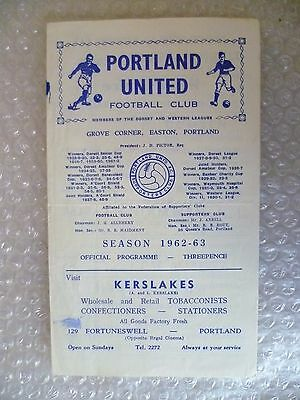 1962 PORTLAND UNITED v WEYMOUTH, 6th Oct (Mark Frowde Cup Semi FINAL0
