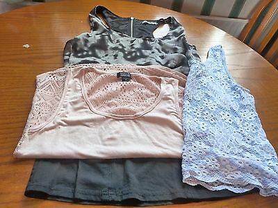 Bundle Of Two Summer Tops And Dress Size 8 From Topshop, Nollie And Crafted