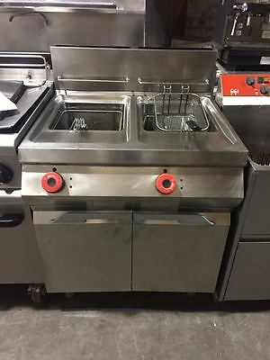 double well double basket natural gas fryer