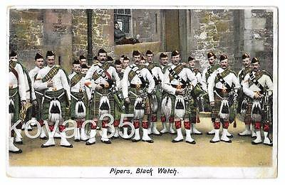 BLACK WATCH, PIPERS (BAGPIPES) c.1905 - Scottish Highland Regiment - Taylor