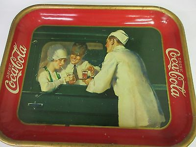 Authentic Coke Coca Cola 1927 Advertising Serving Tin Tray   227-W