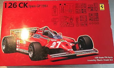 Rare New 1/20 Ferrari 126CK Spain GP 1981 Free shipping from Japan Limited!