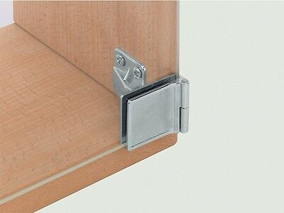 1pair x Glass Door Hinges 170° Inset Chrome / Max.5mm Glass Thickness 361.93.240