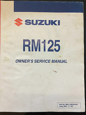 Genuine Suzuki Owners Manual Handbook RM125 RM 125 2008