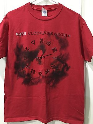 Rush Clockwork Angels Red Shirt Men's Size Medium Excellent Condition.