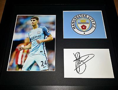 John Stones - Manchester City - Hand-Signed / Autographed Display + Coa