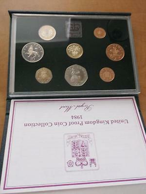 Great Britain 1984 Proof Set With Coa And Box    X1082