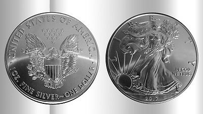 + + American Eagle 2017 - 1oz AG/plata - 1 USD - Moneda American Eagle 1oz + +