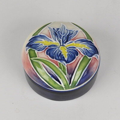 "Collectible Iris 2.5"" Trinket Box - Old Tupton Ware Tube Lined Ceramics Item1299"