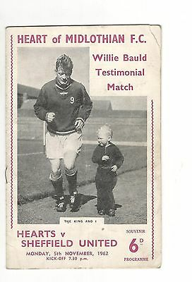 Hearts v Sheffield United 1962 - 1963  Willie Bauld Testimonial