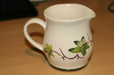 Babbacombe Pottery Cream / Milk Jug with Hand Painted Ivy Leaf Pattern