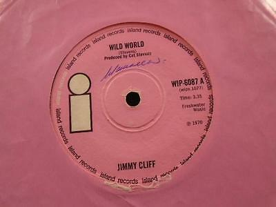 """JIMMY CLIFF """" WILD WORL """" Or.PINK UK ISLAND LABEL [WOL] EX- COND."""