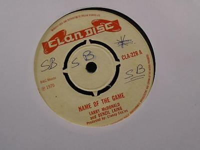 """LARRY McDONALD """" NAME OF THE GAME  """" EX- COND."""