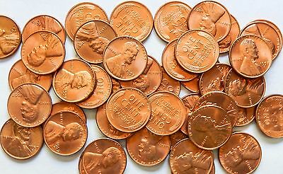 (43) 1957-D Lincoln Wheat Penny Cent Partial Roll ~ BU Uncirculated RED~LUSTER!