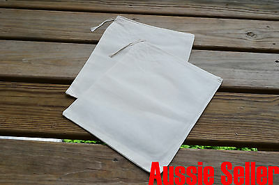 """100 Count 10x12 Unbleached Muslin Calico Drawstring Bag Natural color (10""""x12"""")"""