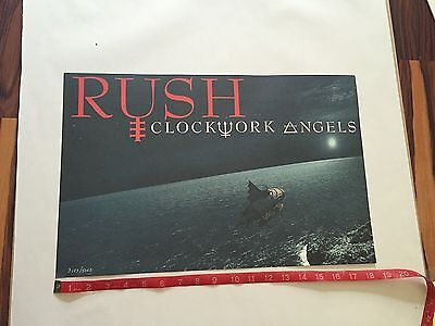 Rush Clockwork Angels VIP Numbered Limited Lithograph Tour Poster 3189/5000