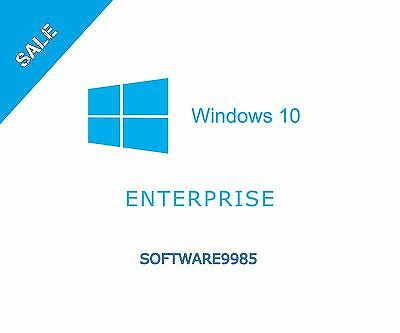 Windows 10 Enterprise 32/64 Bit Genuine License Key Product Code Scrap Pc
