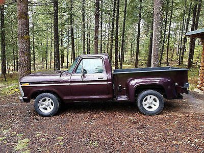 1977 Ford F-100  1977 Ford F100 Custom 2 door 1/2 Ton Stepside