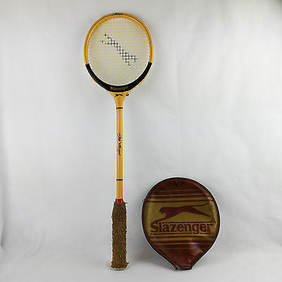Vintage Slazenger Squash Racket THE WHIPPET Wooden with Case
