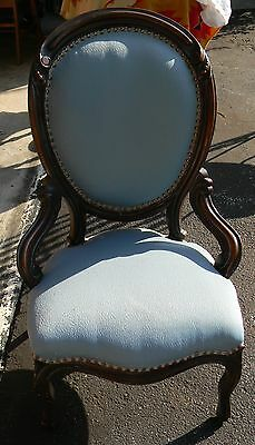 Antique Original Period Victorian Rosewood Parlor Sitting Room Accent Chair