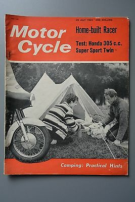 R&L Mag: Motor Cycle 25 July 1963 Velocette 197 Vogue Flat Twin/Honda CB77 Sport