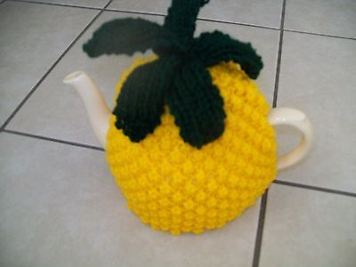Hand Knitted Pineapple Tea Cosy For A Medium Teapot 3-4 Cup