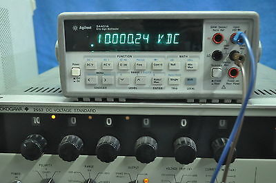 Hp Agilent 34401A Digital Multimeter 6.5 Digit Great Working Condition